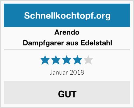 Arendo Dampfgarer aus Edelstahl Test