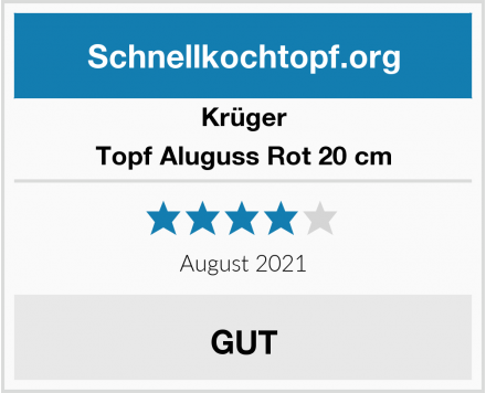 Krüger Topf Aluguss Rot 20 cm Test