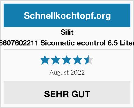 Silit 8607602211 Sicomatic econtrol 6.5 Liter Test