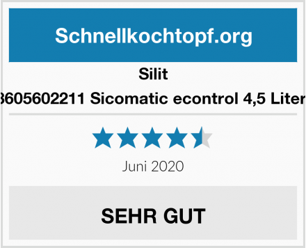 Silit 8605602211 Sicomatic econtrol 4,5 Liter  Test